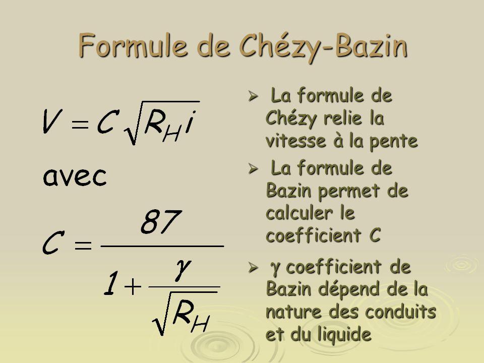 Formule de Chézy-Bazin