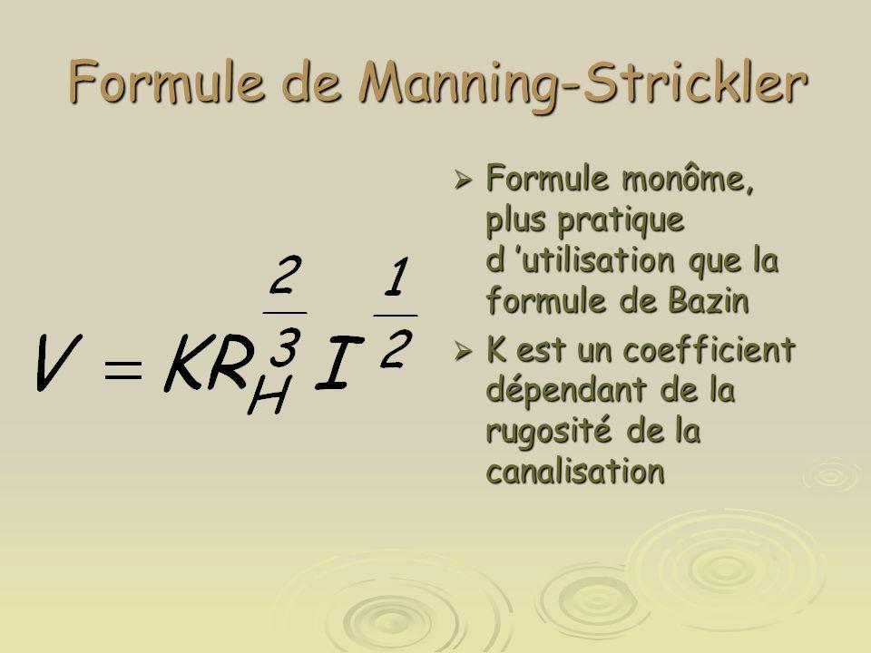 Formule de Manning-Strickler