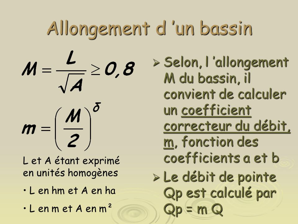 Allongement d 'un bassin