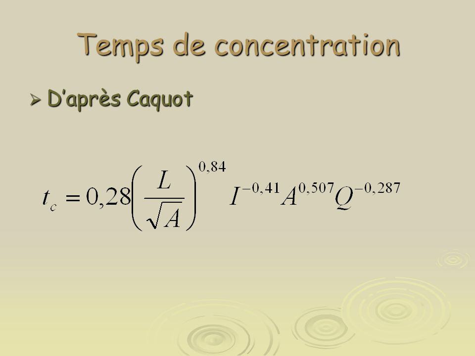 Temps de concentration