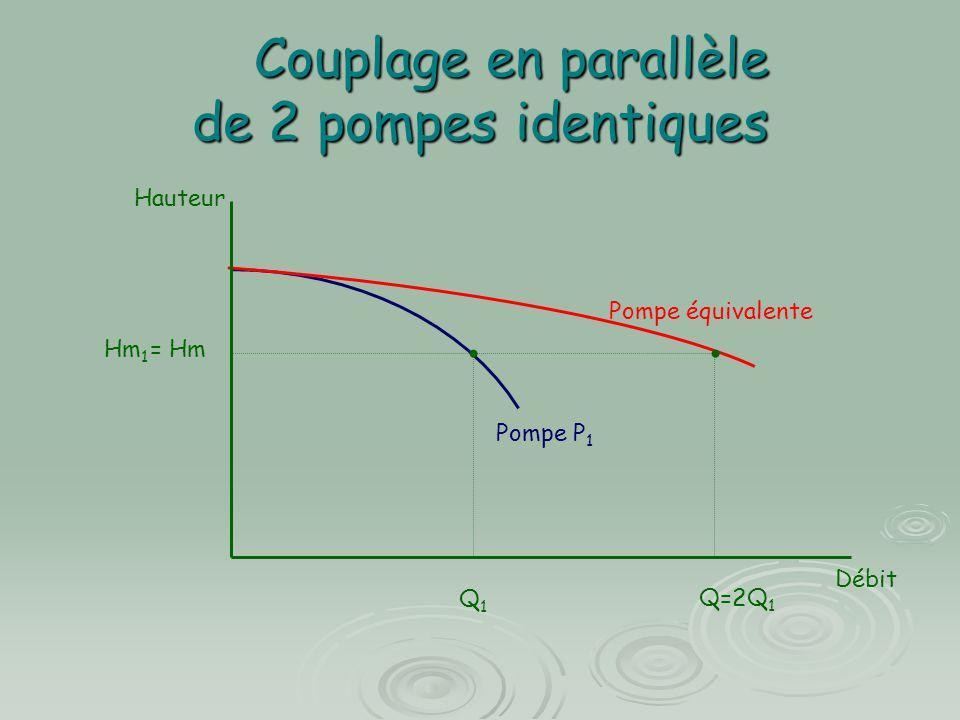 Couplage en parallèle de 2 pompes identiques