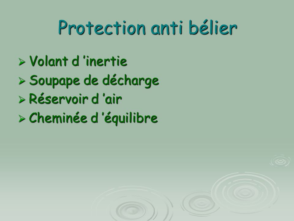 Protection anti bélier