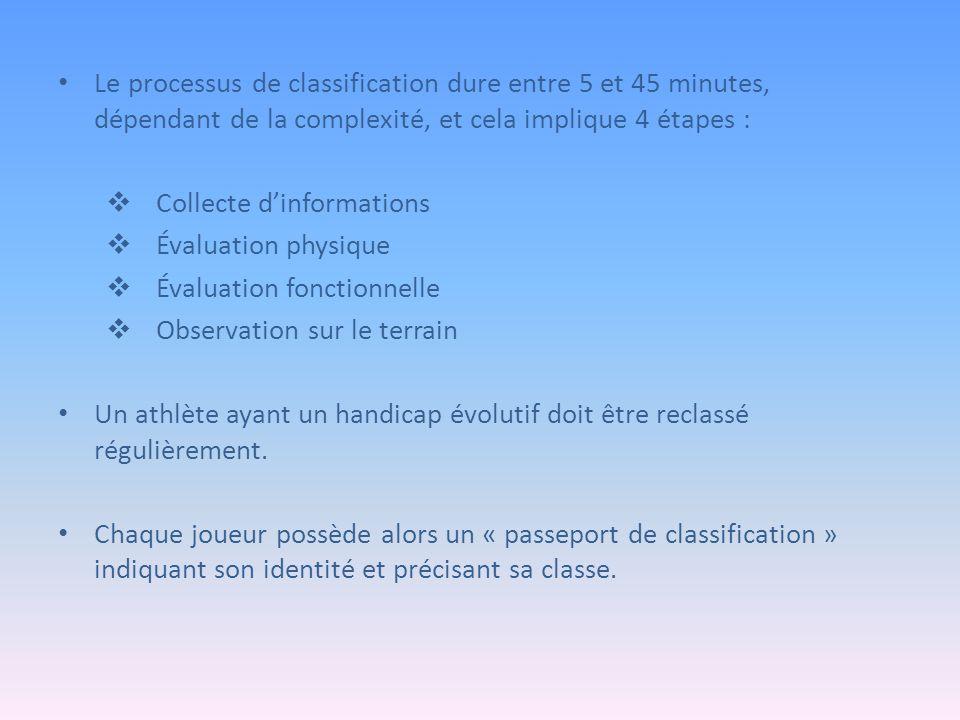 Le processus de classification dure entre 5 et 45 minutes, dépendant de la complexité, et cela implique 4 étapes :