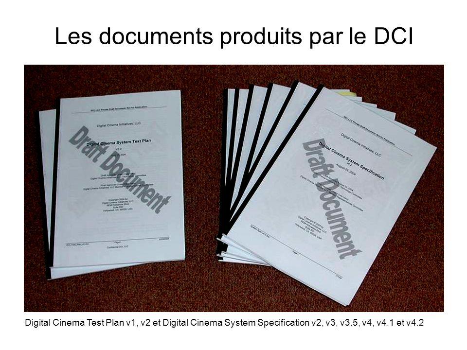 Les documents produits par le DCI