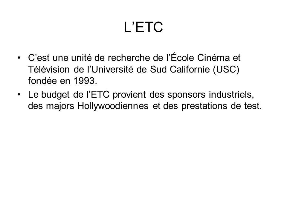 L'ETC C'est une unité de recherche de l'École Cinéma et Télévision de l'Université de Sud Californie (USC) fondée en 1993.