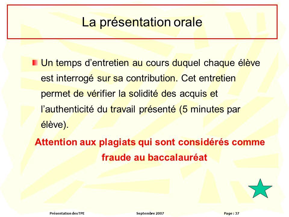 La présentation orale