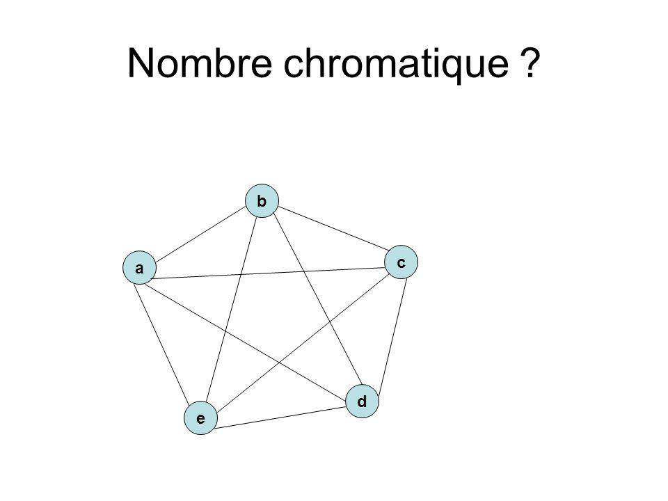Nombre chromatique b c a d e
