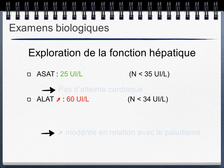 Exploration de la fonction hépatique