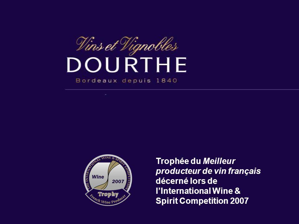Trophée du Meilleur producteur de vin français décerné lors de l'International Wine & Spirit Competition 2007