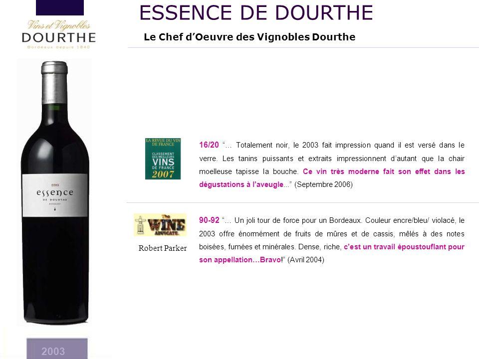 ESSENCE DE DOURTHE 2003 Le Chef d'Oeuvre des Vignobles Dourthe