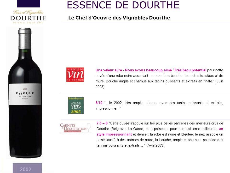 ESSENCE DE DOURTHE 2002 Le Chef d'Oeuvre des Vignobles Dourthe