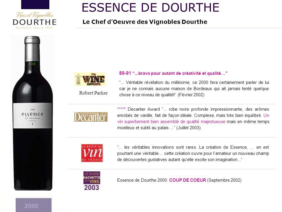 ESSENCE DE DOURTHE 2000 2004 Le Chef d'Oeuvre des Vignobles Dourthe