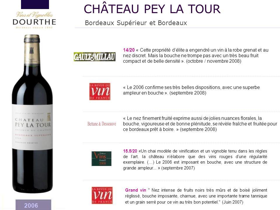 CHÂTEAU PEY LA TOUR Bordeaux Supérieur et Bordeaux 2006 20
