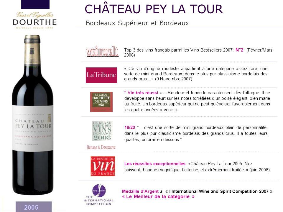 CHÂTEAU PEY LA TOUR Bordeaux Supérieur et Bordeaux 2005