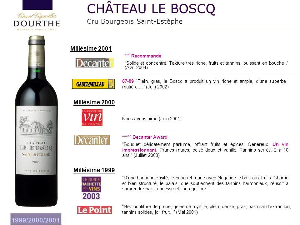 CHÂTEAU LE BOSCQ Cru Bourgeois Saint-Estèphe 1999/2000/2001