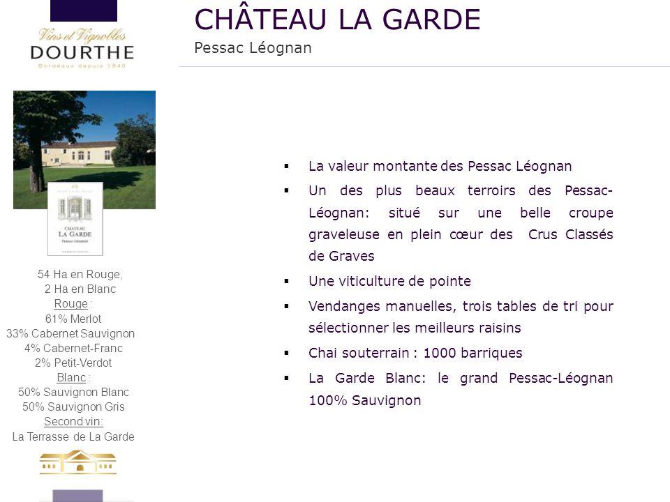 CHÂTEAU LA GARDE Pessac Léognan La valeur montante des Pessac Léognan