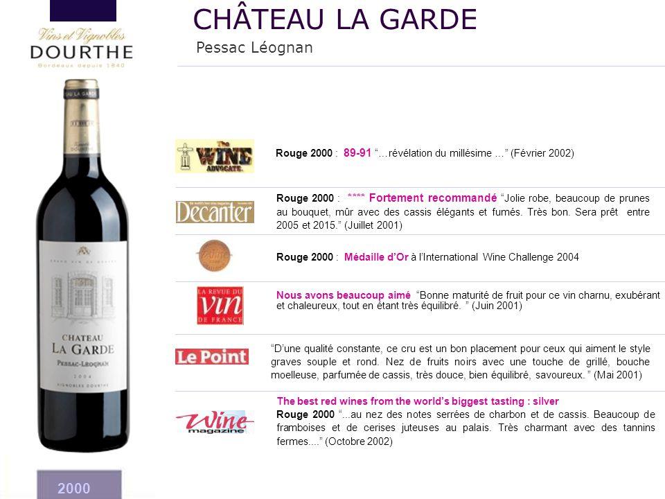 CHÂTEAU LA GARDE Pessac Léognan 2000