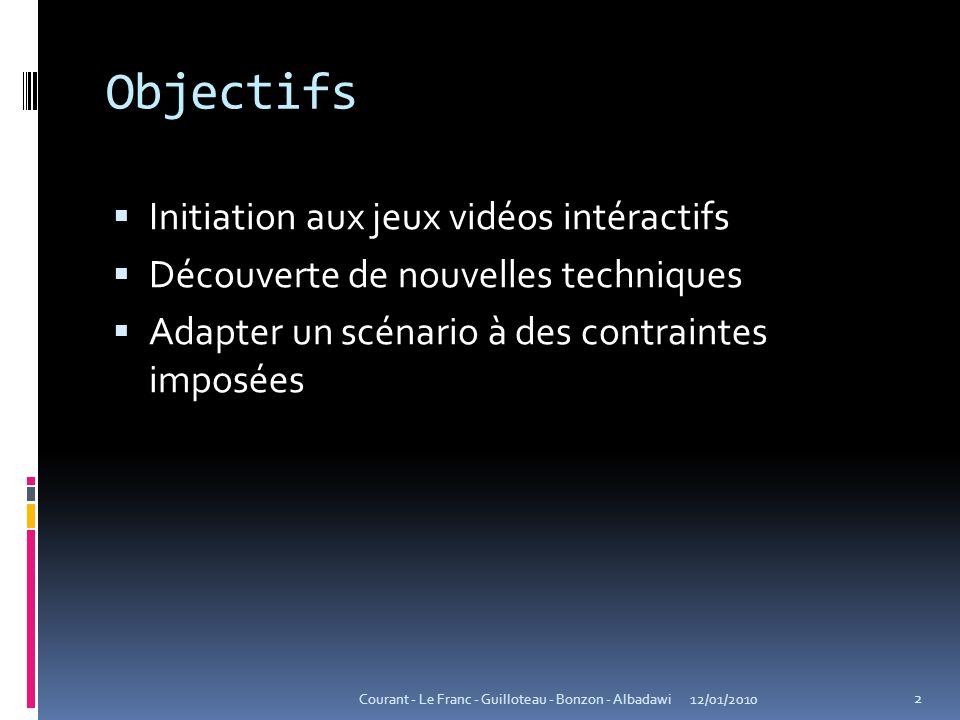 Objectifs Initiation aux jeux vidéos intéractifs