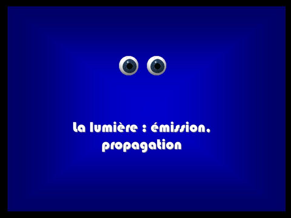 La lumière : émission, propagation