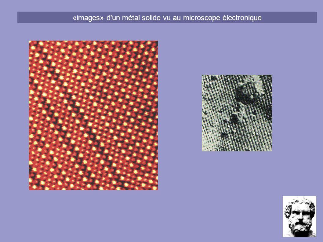 «images» d un métal solide vu au microscope électronique