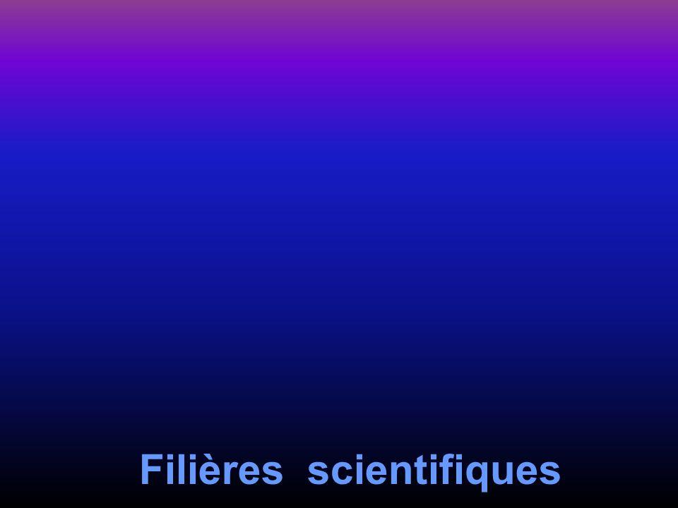 Filières scientifiques