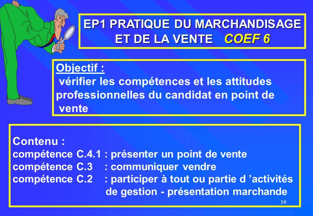 EP1 PRATIQUE DU MARCHANDISAGE