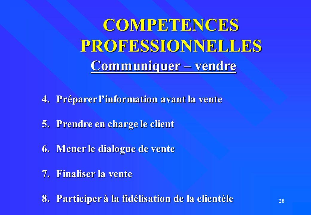 COMPETENCES PROFESSIONNELLES