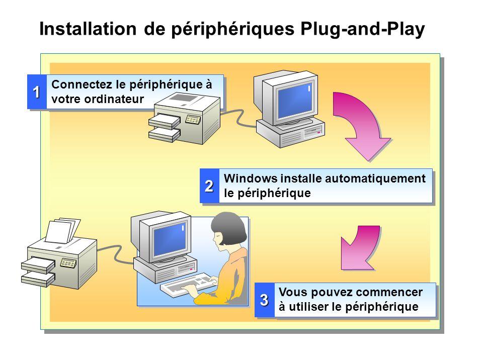Installation de périphériques Plug-and-Play