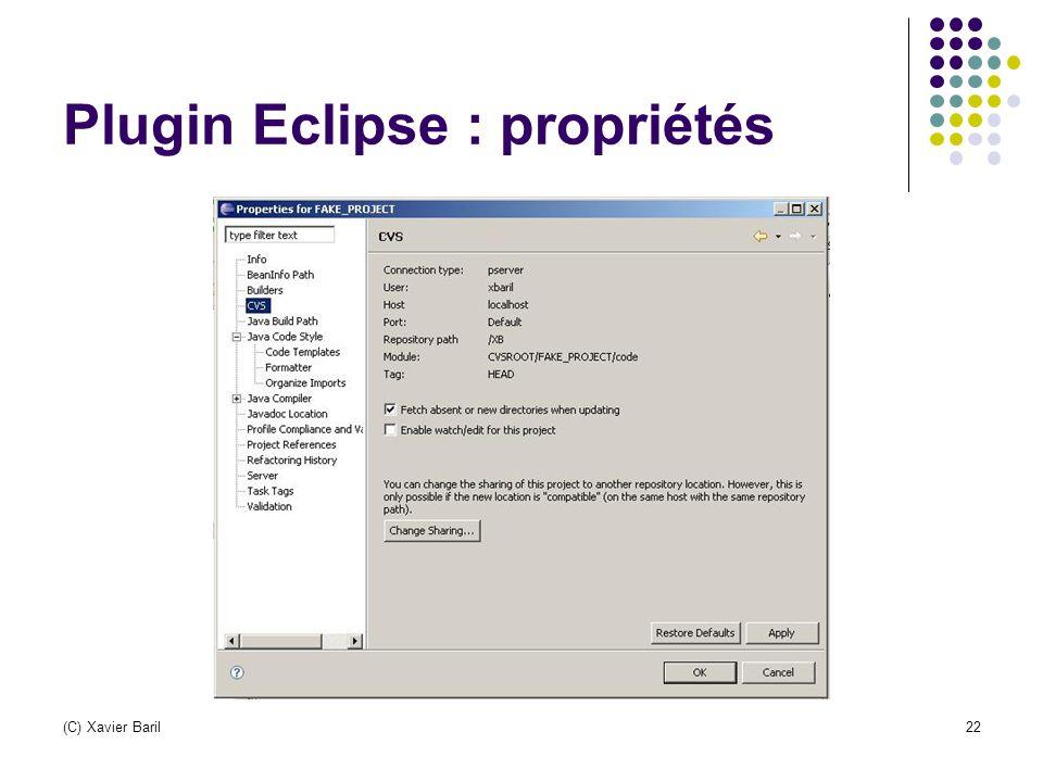 Plugin Eclipse : propriétés