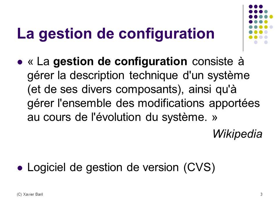La gestion de configuration