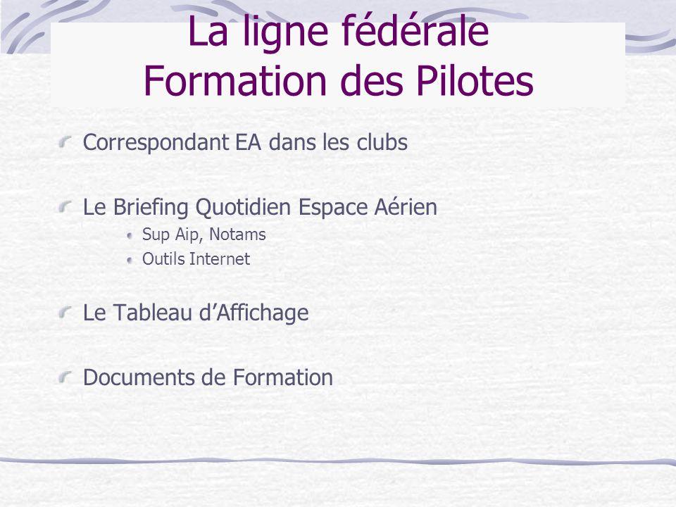 La ligne fédérale Formation des Pilotes