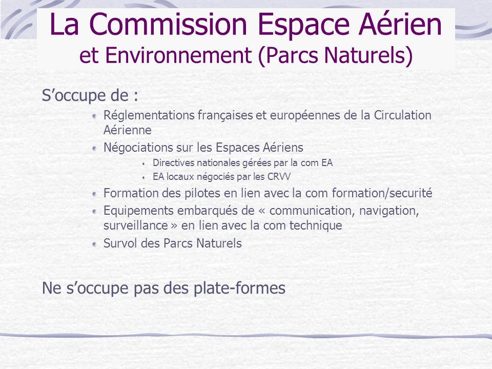 La Commission Espace Aérien et Environnement (Parcs Naturels)