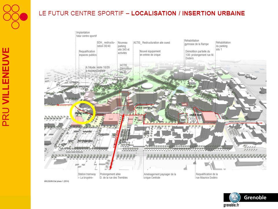 PRU VILLENEUVE LE FUTUR CENTRE SPORTIF – LOCALISATION / INSERTION URBAINE