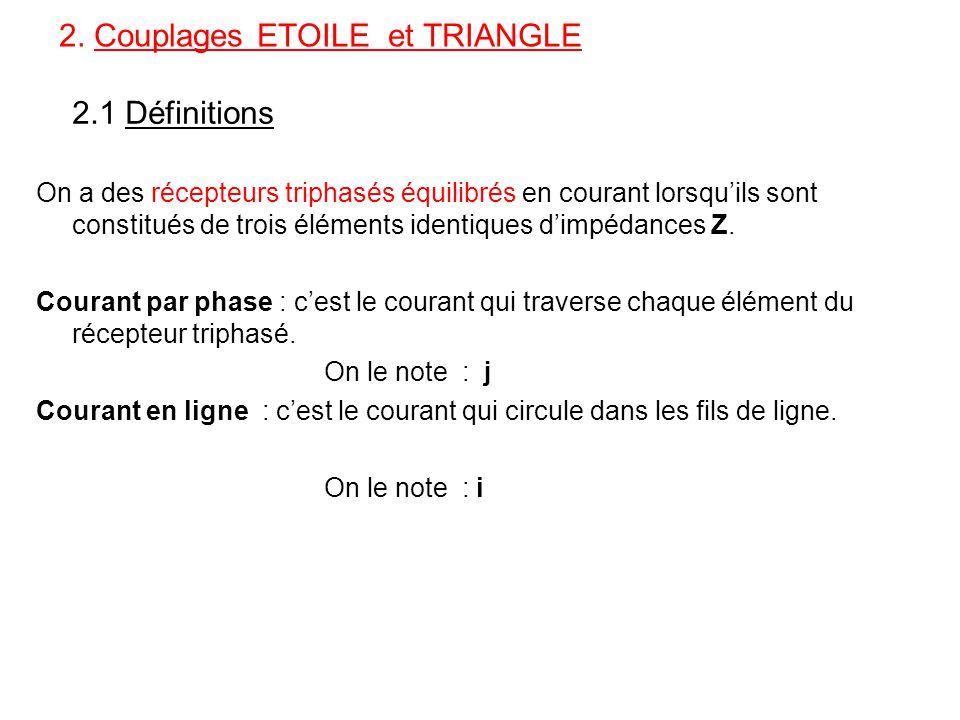 2. Couplages ETOILE et TRIANGLE