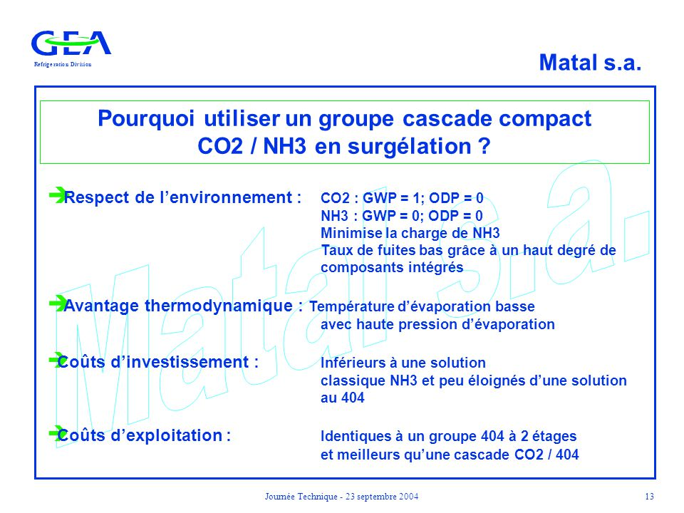 Pourquoi utiliser un groupe cascade compact CO2 / NH3 en surgélation