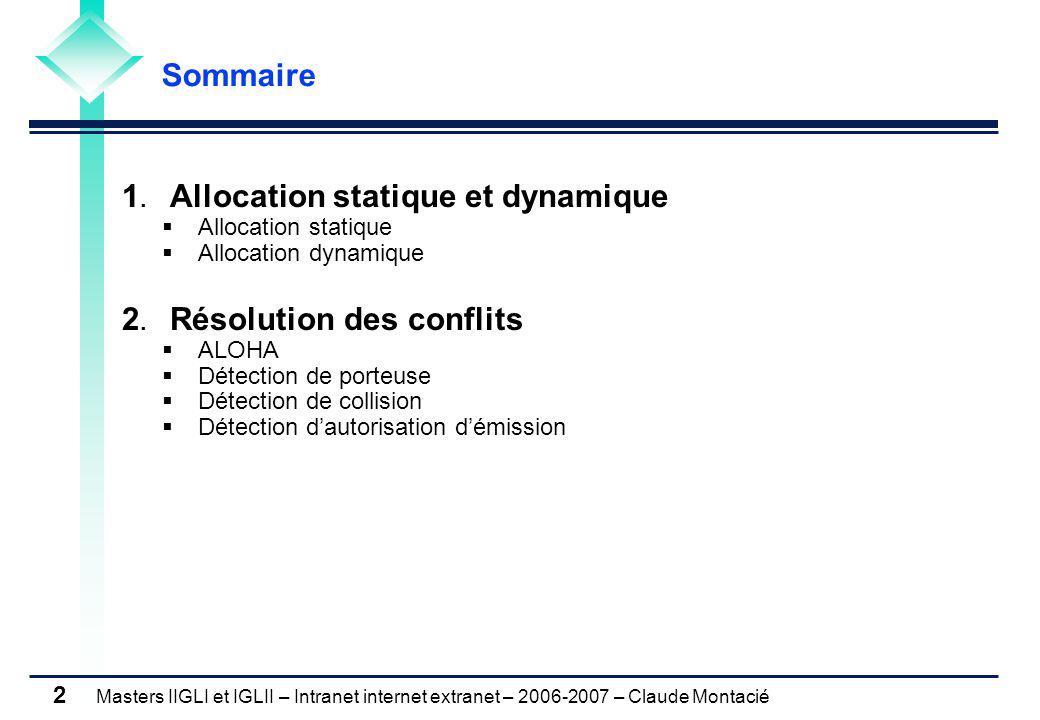 1. Allocation statique et dynamique