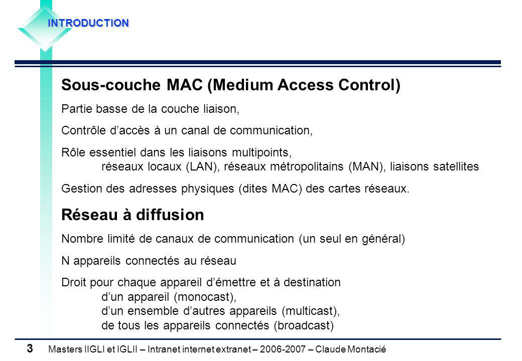 Sous-couche MAC (Medium Access Control)