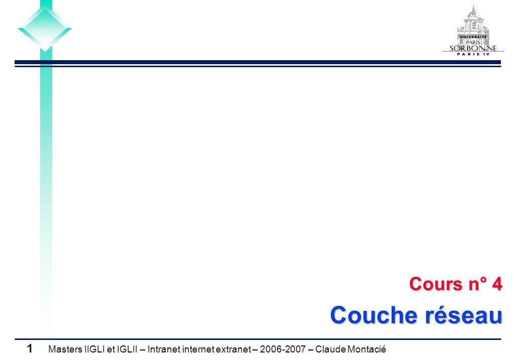 Cours n° 4 Couche réseau