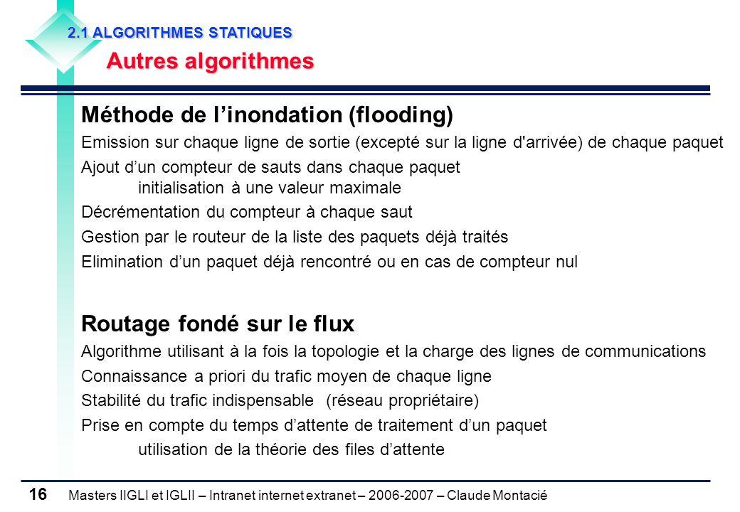 Méthode de l'inondation (flooding)