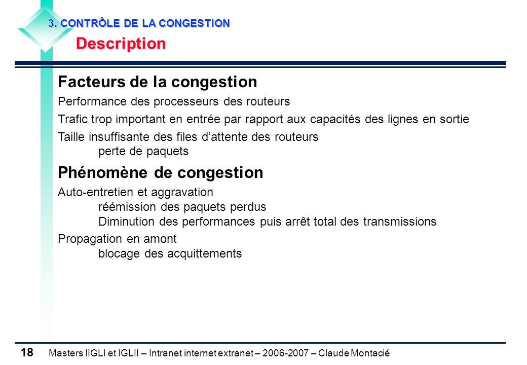 Facteurs de la congestion