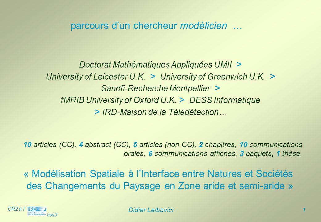 parcours d'un chercheur modélicien …