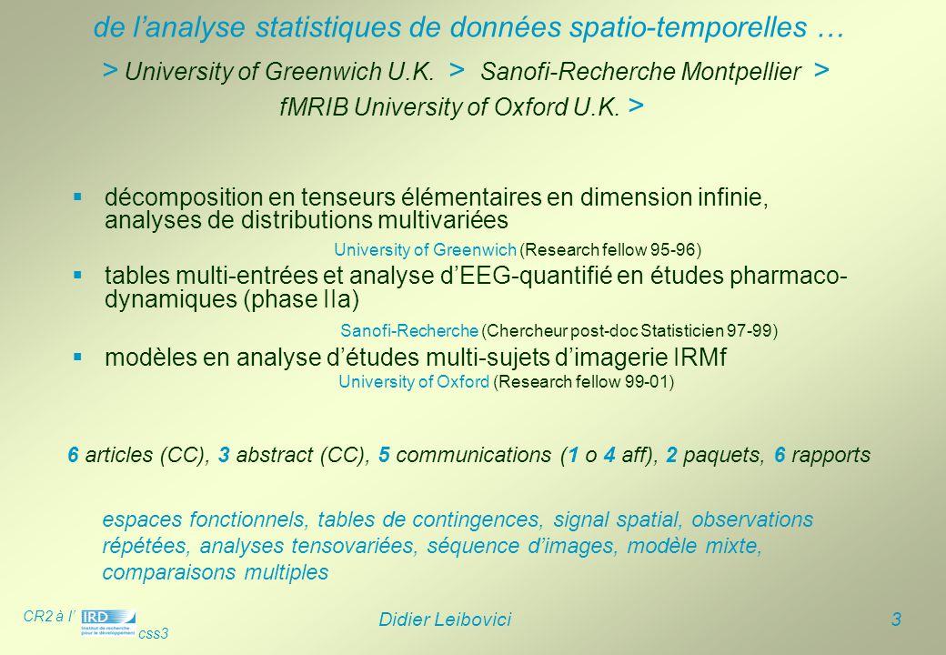 de l'analyse statistiques de données spatio-temporelles …