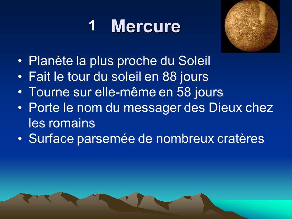Mercure 1 Planète la plus proche du Soleil