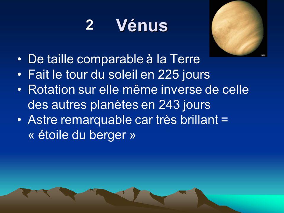 Vénus 2 De taille comparable à la Terre