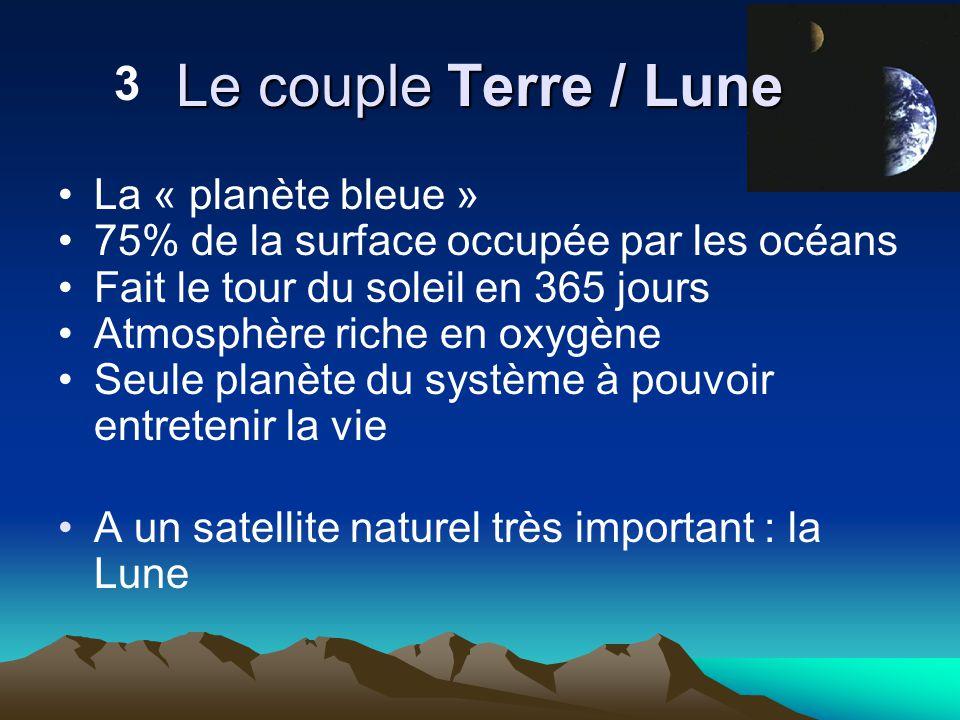 Le couple Terre / Lune 3 La « planète bleue »