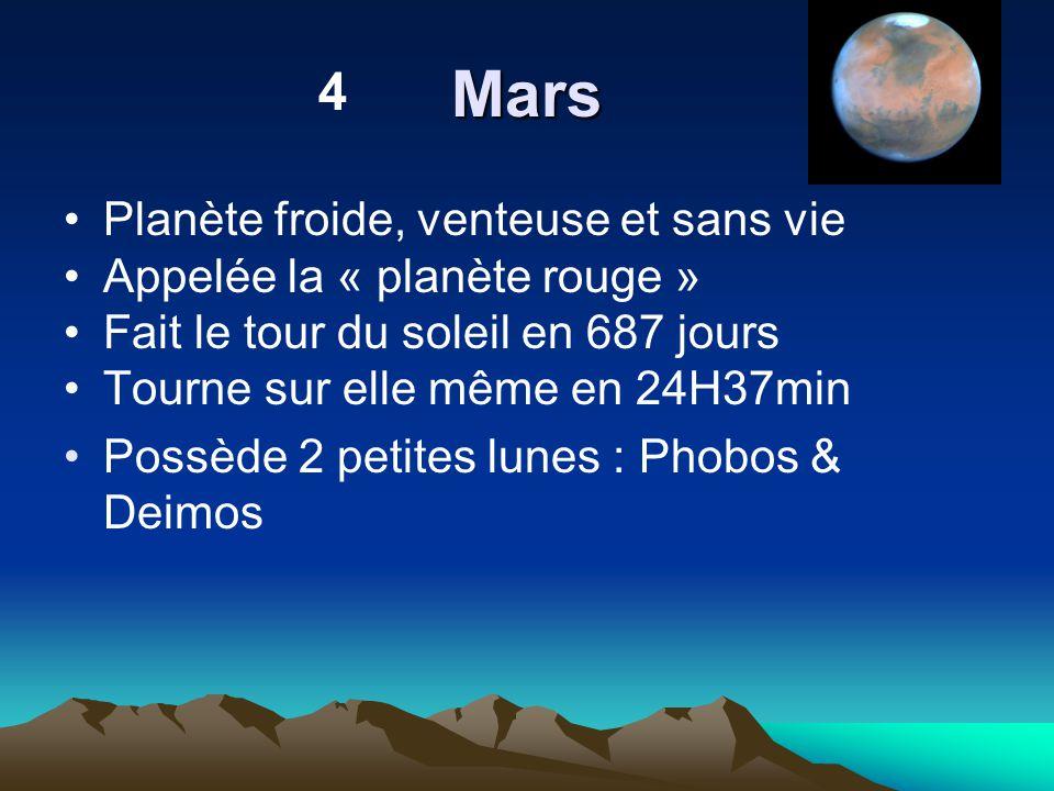 Mars 4 Planète froide, venteuse et sans vie