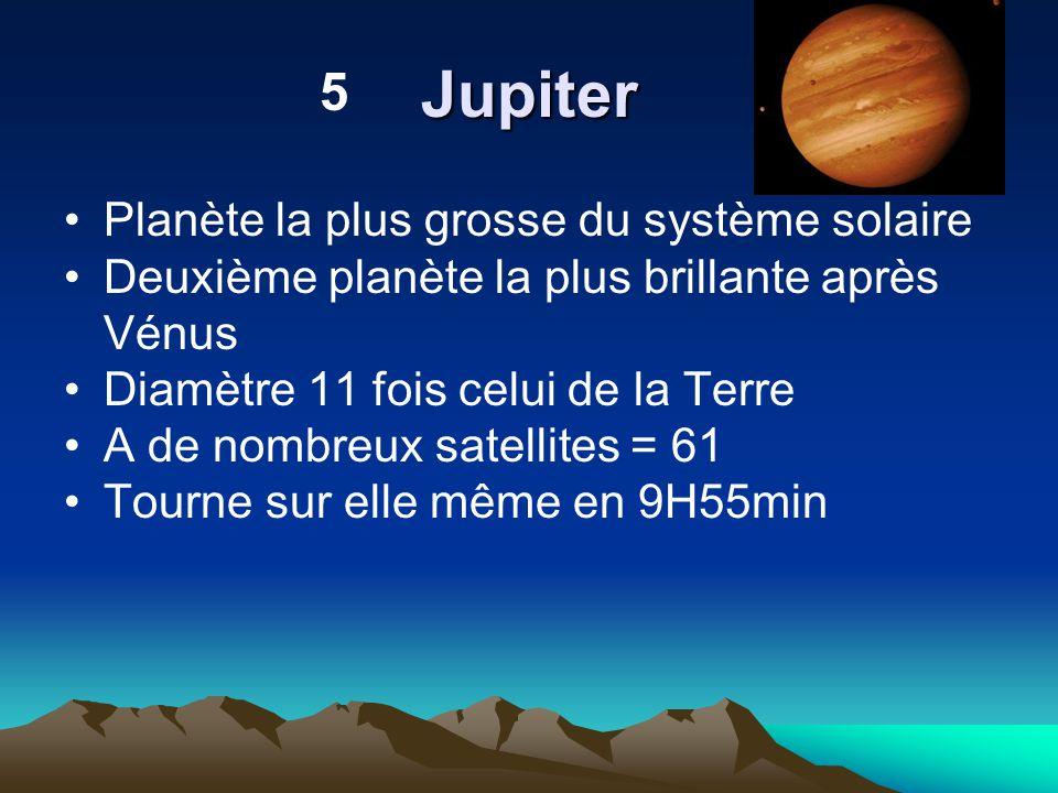 Jupiter 5 Planète la plus grosse du système solaire