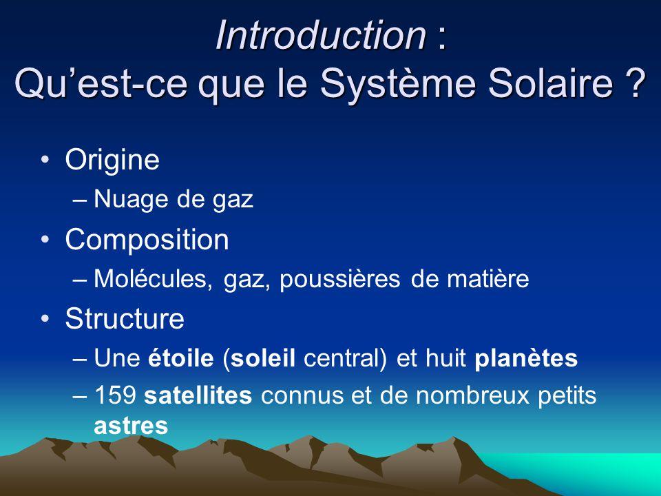 Introduction : Qu'est-ce que le Système Solaire
