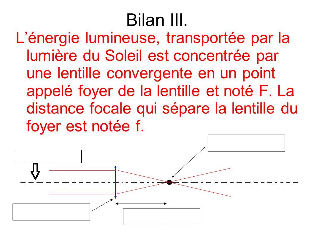 Bilan III.