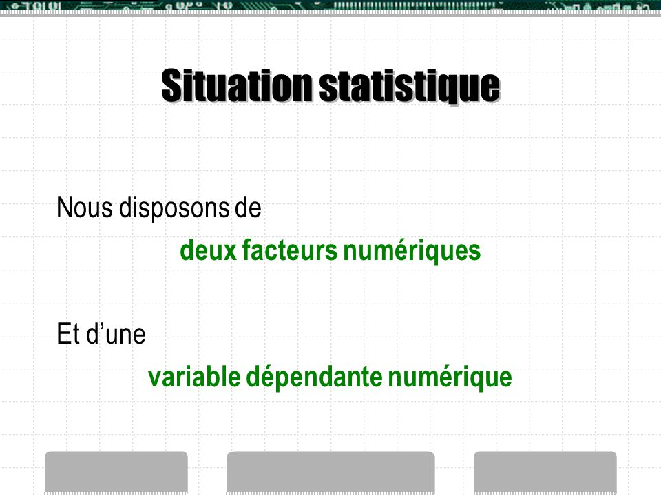 Situation statistique